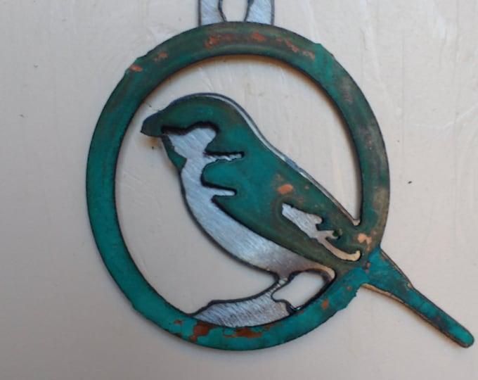Patina Sparrow Ornament