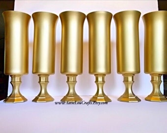 "Set of (6) 13""Tall, Wedding Centerpieces,Table Centerpiece, Wedding Centerpiece, Flower Vase, Tall centerpieces,Candle Holder,Tall Vases,"
