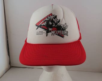 Vintage Wolverine (X-men) hat - Trucker Style - Adult One Size Fits All