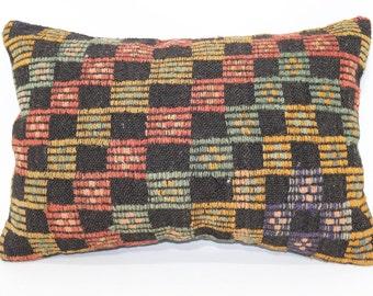 16x24 Turkish Kilim Pillow Sofa Pillow Decorative Pillow 16x24 Embroidered Kilim Pillow Ethnic Pillow Cushion Cover  SP4060-335