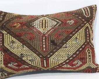 16x24 Turkish Cushion Embroidered Kilim Pillow Throw Pillow Sofa Pillow 16x24 Chic Pillow Home Decor Ethnic Pillow Cushion Cover SP4060-391