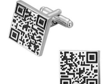QR Code Cufflink -k154