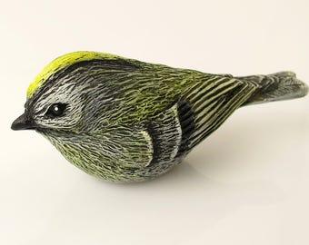 Magnet Kinglet Bird Figurine Magnet Goldcrest Bird Statue Magnet