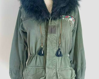 Army - Silver feather jacket