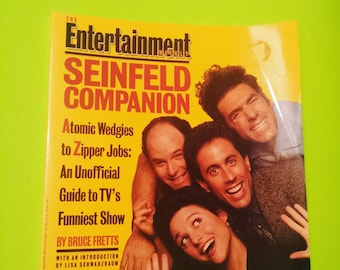 The Entertainment Weekly: SEINFELD COMPANION Jerry book comedy humor funny tv show series icon iconic the 80s '80s 80's '90s 90s 90's 1990s