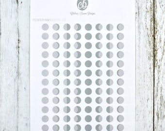 Moon Phase Stickers   Passion Planner Stickers for the Classic and Compact Size