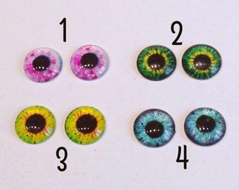 Eyes chips 14 mm eyes realistic pupils to customize fantasy dolls Blythe/Basaak Doll Eyemech chips tab