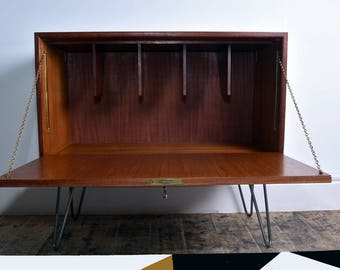 Midcentury/Vintage/Retro 60s Staples Teak LP Cabinet/Unit