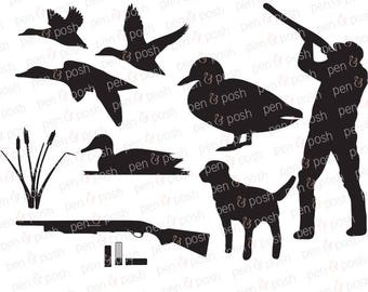 Duck Hunting Svg - Duck hunting Clipart - Duck hunting Dxf - Hunting SVG - Duck hunting Cut Files - Cut Files for Cricut - Silhouette Files
