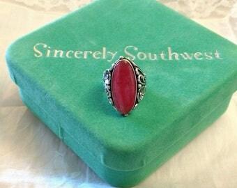 Sincerely Southwest Sterling Rhodochrosite Ring