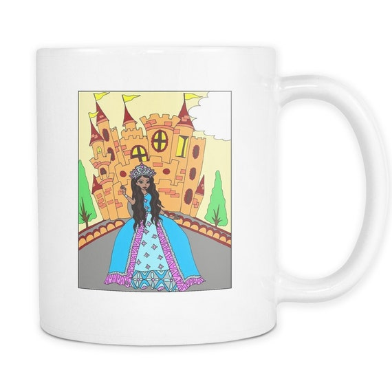 Princess Jalaya's Castle Coffee Mug African American Princess  Black Princess Best Gift Ideas For Your Little Princess