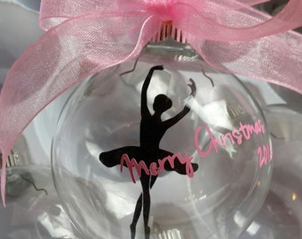 Personalized Christmas Ornament - Ballerina Christmas Ornament - Custom Ballet Ornament