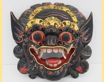 BALINESE BARONG MASK - Mask of Hindu Influence. Artifact. From Bali, Indonesia. Tribal Art