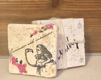 Alice Designed Coasters/ Coasters/ Handmade Coasters/ Alice and Wonderland