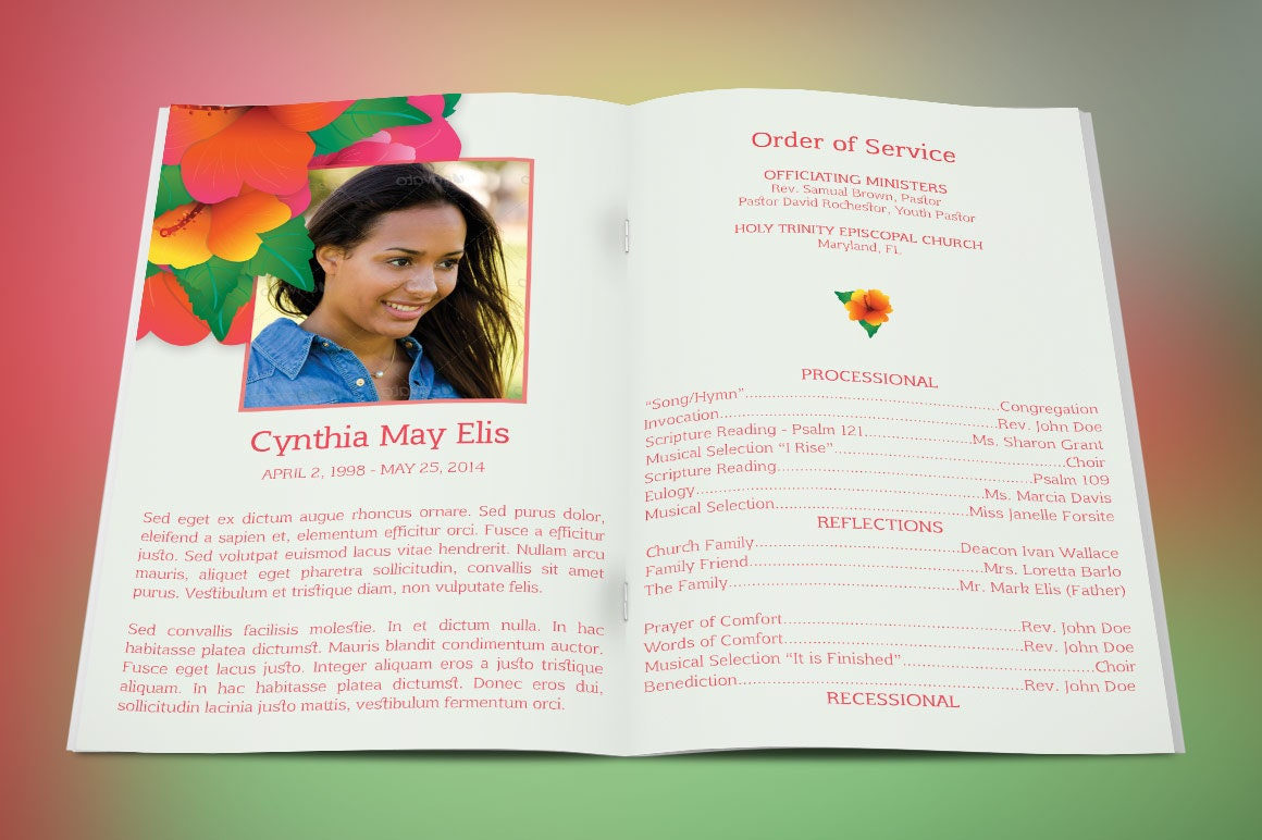 free funeral program templates for microsoft publisher