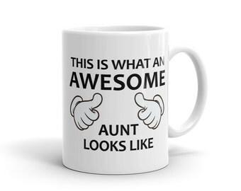 Awesome Aunt Mug, Aunt to be Mug, Reveal Mug, New Aunt Mug, Gift for Aunt, New Aunt Gift, Best Aunt Mug, Aunt Birthday Gift #1050