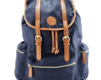 Hemp Blue Backpack