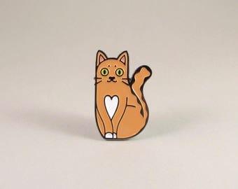 Love Cat Enamel Pin - Ginger