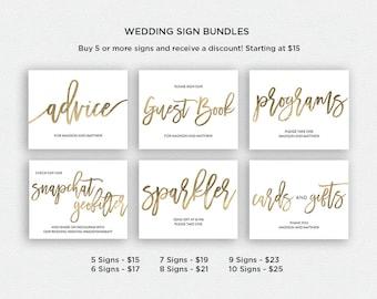 Wedding Sign Bundle   BUNDLE 3   Wedding Reception Signs   Printable Wedding Signs   EDN 5433 - 5456