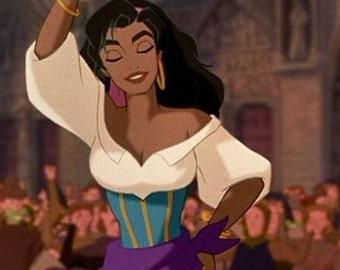 Esmeralda gypsy dress *in progress*