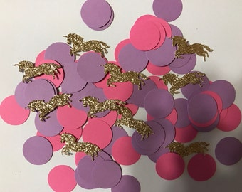 100 pieces of circle and unicorn confetti  colors can be adjusted just message me