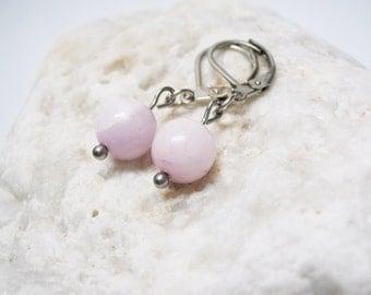Pink Kunzite Earrings Kunzite Earrings Pink Kunzite Jewelry Love Jewelry  Dangle Earings Charm Earrings Kunzite Charm Gemstone Earrings