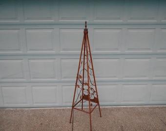 recycled junk obelisk