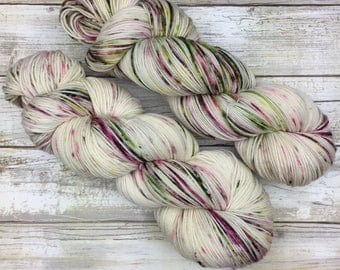 Hand Dyed Yarn | Superwash Merino Wool/Nylon Blend | Full-Bodied Sock/Fingering Weight | 100 g. | Tea and Crumpets | 4-ply