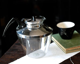 Pyrex Ware for Teamakers, Inc. 12 cup teapot, vintage teapot, vintage Pyrex