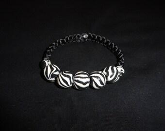 Zebra bracelet Hand Made