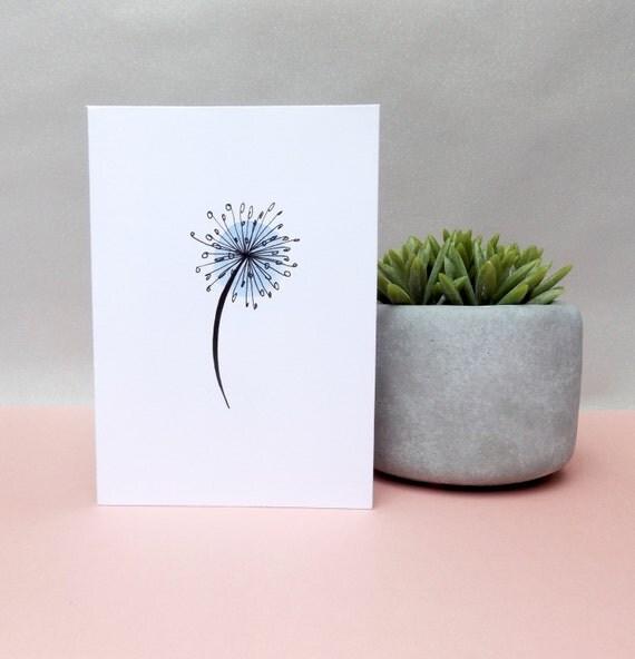 Dandelion sympathy card. Sympathy card, blank sympathy card. Dandelion card. Thinking of you card. Blank card. Free shipping.