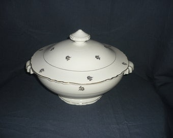 1950s orchid faience tureen