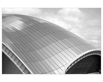 Minimalist, Black and White Photography, Print, Wall Art, Sage Gateshead, Modern, Urban, Architecture