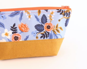 Rifle Paper Co Bag - Les Fleurs Bag - Makeup Bag - Zipper Pouch - Cosmetic Bag - Gifts for her - Toiletry Bag - Purse Organizer