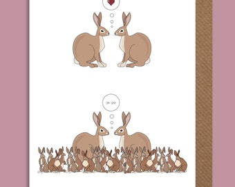 Rabbit Valentine's day card
