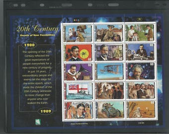 10 Marshall Islands Souvenir Sheets 'Our Greatest Century' 1900-1999 - MNH (SO)