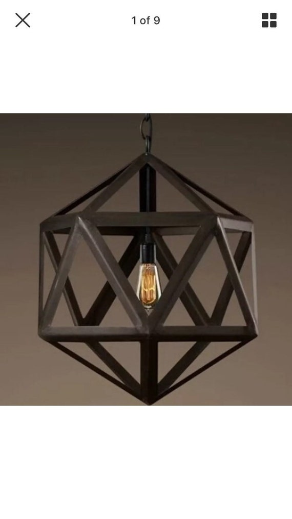 Antique industrial style edison ceiling light fixture rustic