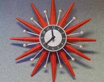 1/12 Dollhouse Mid Century Starburst Wall Clock