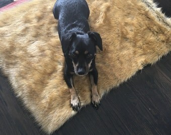 Dog Mat. Cat Mat. Dog Bed. Cat Bed. Faux Fur Rug. Holiday Gift for Dogs. Bed for Teepee. Cool Rug.