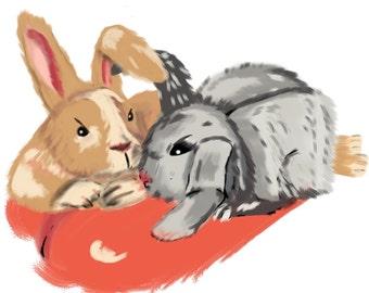 rabbit, pet, rabbits , love, birthday card, valentines day card, pet card, rabbit cards