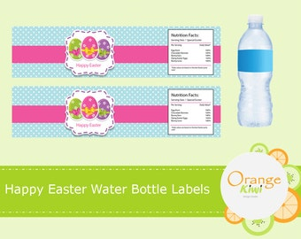 Happy Easter Water Bottle Wraps, Easter Water Bottle Labels, Waterproof Labels, Happy Easter Party Decor