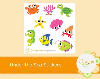 Under the Sea Stickers, Sea Creature Stickers, Planner Stickers