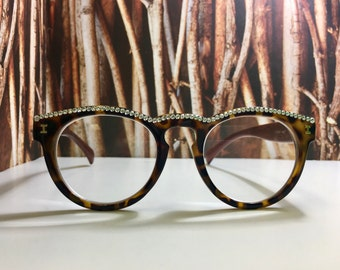 Swarovski Crystal Round Readers/ Reading glasses +2.50