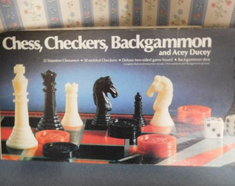Chess, Checkers, Backgammon, and Acey Ducey by Athol Research Co. from 1978