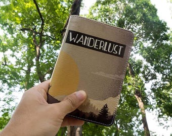 Wanderlust - Personalized Passport Cover/Holder - Travel Passport Cover - High Quality Handmade Leather | TG-PPC-050