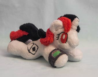 "My Little Pony Fallout Equestria Project Horizons Blackjack Plush toy beanie tiny 5""  minky"