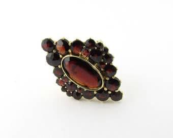 Vintage 10K Yellow Gold Garnet Ring Size 6 #1573