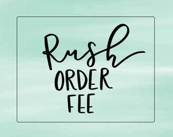 Rush Order Fee for Signs