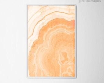 Printable Abstract Art, Abstract Poster, Modern Abstract Print, Peach Orange Modern Wall Art, Digital Abstract Art, Modern Home Decor