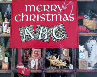 Leisure Arts Merry Christmas ABC Cross Stitch Book,  Christmas Cross Stitch Book